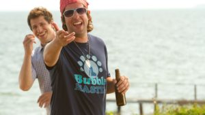 Todd Peterson (Andy Samberg) and Donny Berger (Adam Sandler) in Columbia Pictures' comedy THAT'S MY BOY.